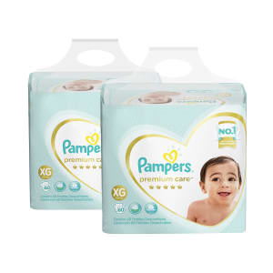 Kit de Fraldas Pampers XG Premium Care Jumbo - 120 Unidades