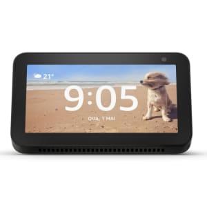 "Echo Show 5 Amazon Smart Speaker Preta Alexa em Portugues com Tela de 5,5"""""
