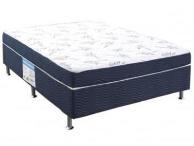 Cama Box Casal Ortobom Conjugado 43cm de Altura - Physical Blue