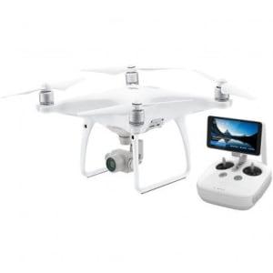 Drone DJI Phantom 4 Advanced+ Rádio Controle com Tela Integrada Branco
