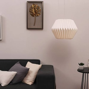 Luminária Pendente Origami Branco Cru - Orb