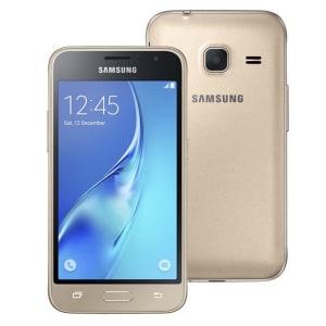 Oferta ➤ Smartphone Samsung Galaxy J1 Mini Duos Dourado com Dual Chip, Tela 4.0, 3G, Câmera de 5MP, Android 5.1 e Processador Quad Core de 1.2 GHz   . Veja essa promoção