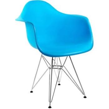 Cadeira By Haus Armshell Azul