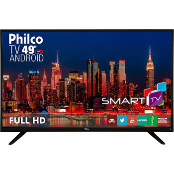 "Smart TV LED 49"" Philco PH49F30DSGWA Full HD com Conversor Digital 2 HDMI 2 USB Wi-Fi"