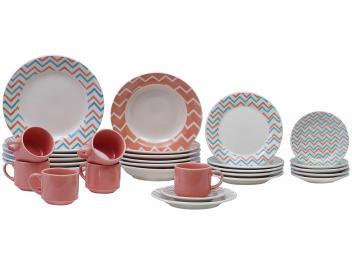 Aparelho de Jantar Chá 30 Peças Biona - Cerâmica Redondo 079768 - Magazine Ofertaesperta