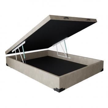 Base para Cama Box Casal Premium com Baú Suede