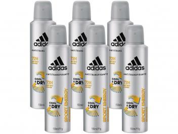 Desodorante Aerosol Antitranspirante Masculino - Adidas Sport Energy Cool  Dry 150ml 6 Unidades - Magazine Ofertaesperta