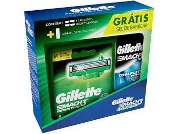 Kit Aparelho de Barbear Gillette Sensitive - 4 Peças