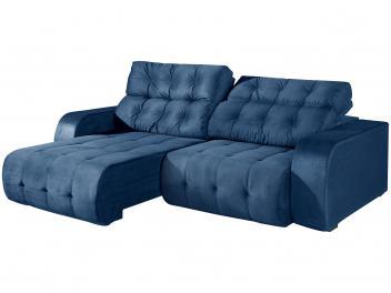 Sofá Retrátil e Reclinável 4 Lugares Suede - Dover American Comfort Azul