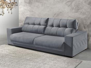 [4 cores] Sofá Retrátil e Reclinável 3 Lugares Suede - Reta Moderna Supreme American Comfort