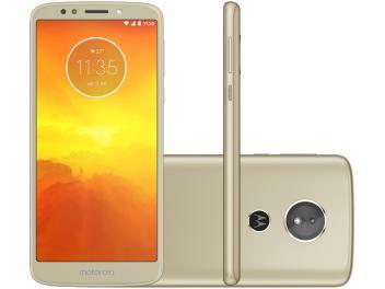 "Smartphone Motorola Moto E5 32GB Ouro 4G - Quad Core 2GB RAM Tela 5,7"" Câm. 13MP + Selfie 5MP - Magazine Ofertaesperta"