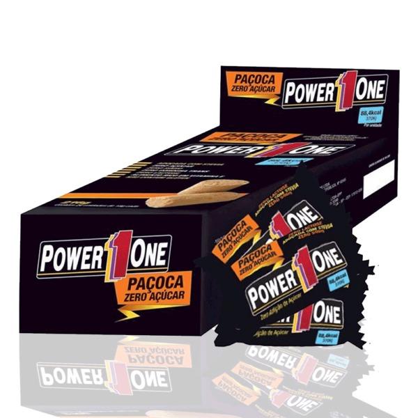 Paçoca Zero Açúcar (cx c/ 24uni de 18gr cada) - Power One