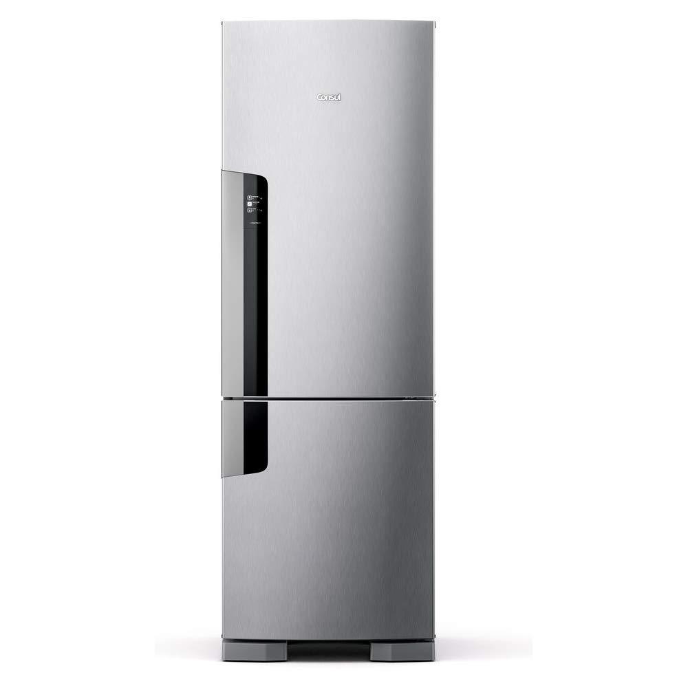 Geladeira Consul Frost Free Duplex 397 litros Evox com freezer embaixo 110V