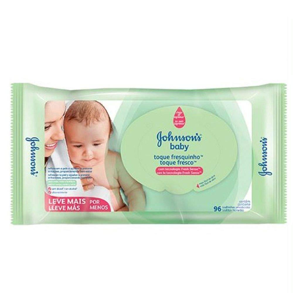 Johnson's Baby Baby Toalhinhas Toque Fresquinho, 96 Unidades