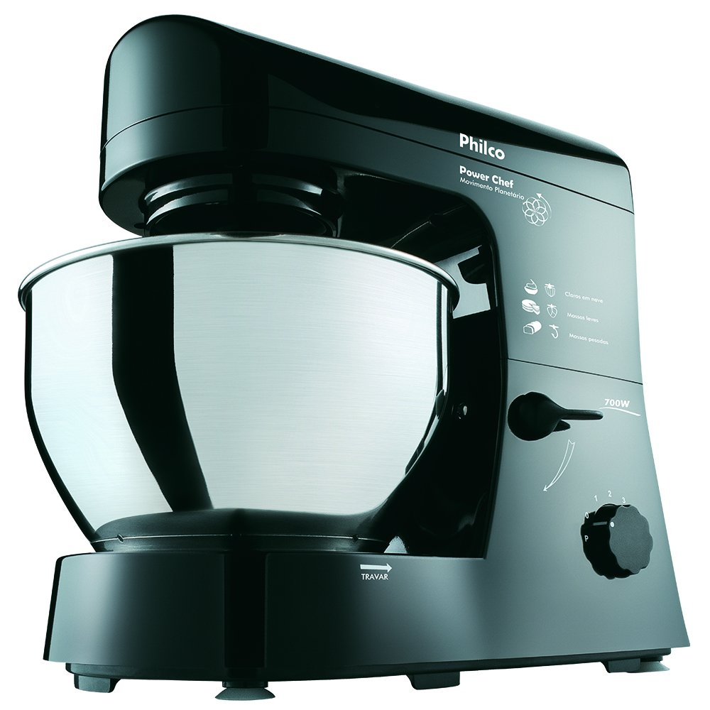 Batedeira Power Chef, 127V, Philco 53401000, Preto, Philco, 53401000, Preto