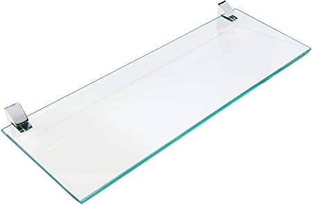 Prateleira Vidro Suporte Prat-K Cromado 0. 8 X 15 X 40cm