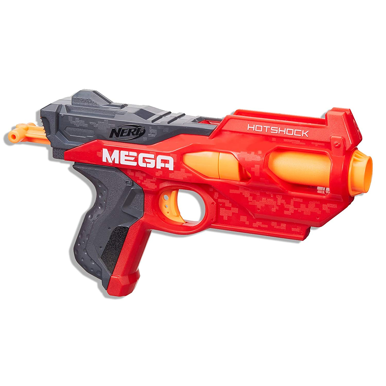 Lança Dardo Nerf Nstrike Mega Hotshock Hasbro Vermelho/Cinza/Laranja