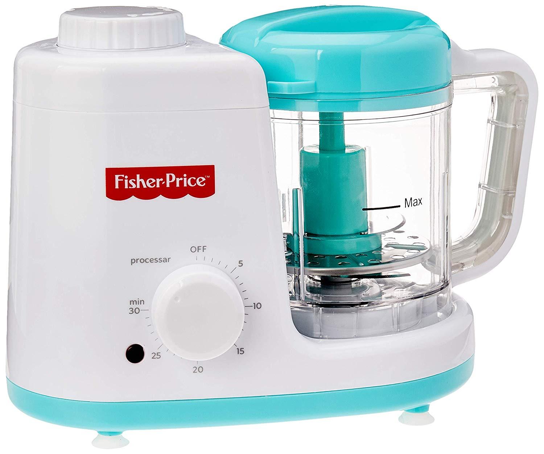 Processador de Alimento 2 em 1 220V Fisher Price, BB306, Multikids Baby, Azul/Branco