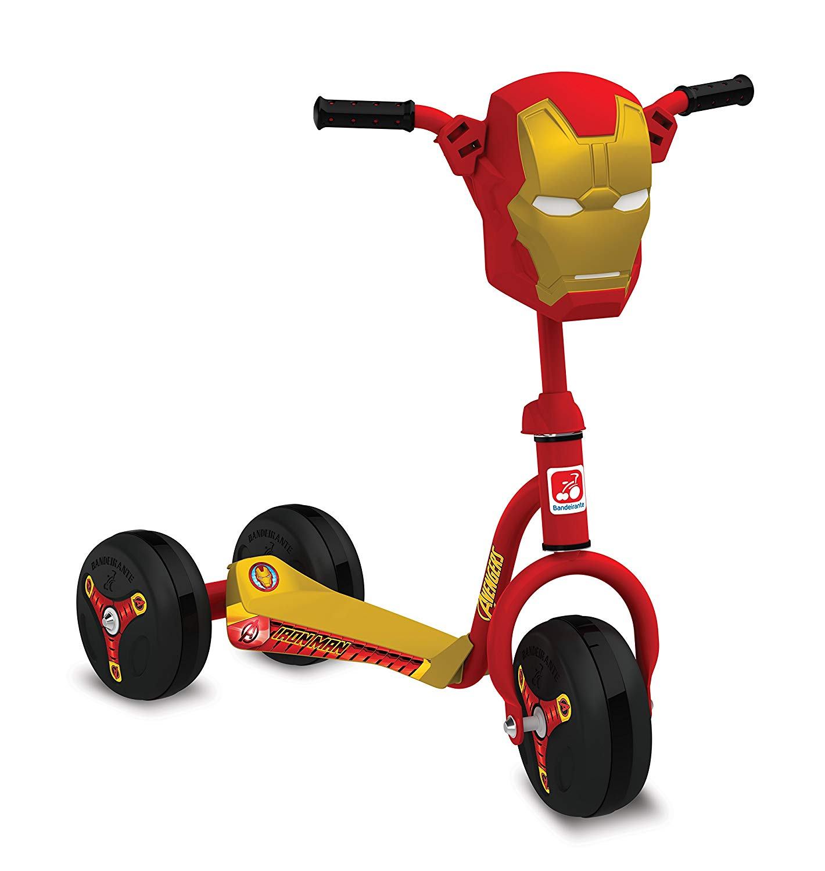 Patinete Homem de Ferro Clássico Avengers Bandeirante Vermelho