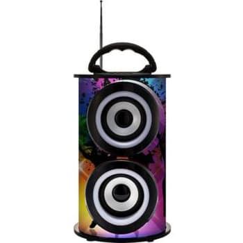 Caixa de Som Portátil TRC 218A Bluetooth Amplificada 25W Colorida