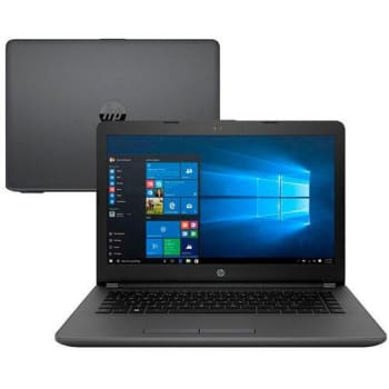 "Notebook HP 246 G6 Core i5-7200U 4GB 500GB Tela 14"" Windows 10 - Cinza"