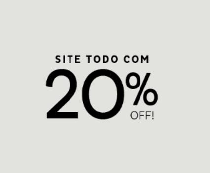 Todo o Site da Marisa com 20% de Desconto!