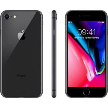"iPhone 8 Cinza Espacial 64GB Tela 4.7"" IOS 11 4G Wi-Fi Câmera 12MP - Apple"