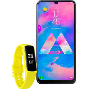 Smartphone Samsung Galaxy M30 - Azul + Galaxy Fit E - Amarelo