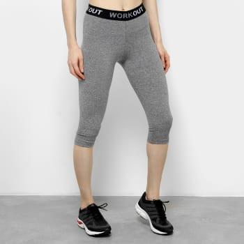 Calça Corsário Gonew Workout Feminina - Mescla