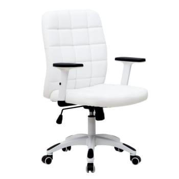 Cadeira de Escritório Diretor Premium Fitz BrancaCadeira de Escritório Diretor Premium Fitz Branca