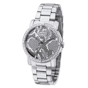 Relógio Feminino Analógico Social Champion Passion, Pulseira de Aço Prata, Caixa de 3,8 Cm, Resistente à Agua 50M, Um Ano de Garantia- CH24213Q