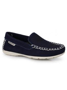 [Vermelho ou azul]  Sapato Mocassim Infantil Pegada