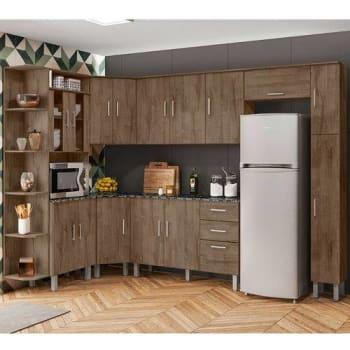 [3 cores] Cozinha Compacta Com Tampo 8 Peças Suiça – Poliman Móveis - Demolição