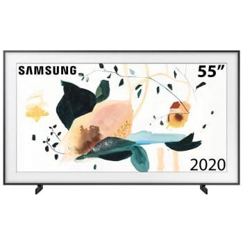 "Smart TV 55"" Samsung 4K QLED HDR Wi-Fi Bluetooth 4 HDMI 2 USB com Molduras Customizáveis The Frame QN55LS03TAGXZD"