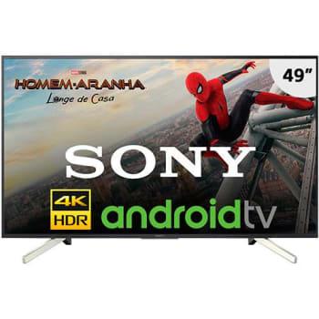"Smart TV LED 49"" Sony KD-49X755F Ultra HD 4K 4 HDMI 3 USB Preto com Conversor Digital Integrado"