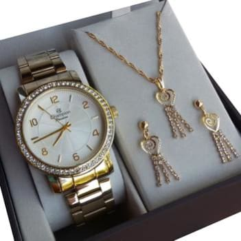 Relógio champion feminino Dourado cn28875w - Magazine Ofertaesperta