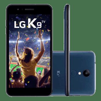 """Smartphone LG K9 TV 16GB Azul LMX210BMW Tela 5.0 polegadas Dual Chip 4G - Smartphone LG K9 TV 16GB LMX210BMW AzulAssista a TV no seu smartphone, onde você estiverFotos nítidas até com pouca luzCompartilhe seus melhores momentos Câmera de 8MPGifs animadosTela de 5.0\"""" HDConforto e segurança"""
