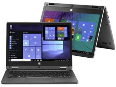 Notebook 2 em 1 Multilaser M11W Plus PC112 Intel - Celeron 2GB 64GB Touch Screen Full HD Windows 10 - Magazine Ofertaesperta