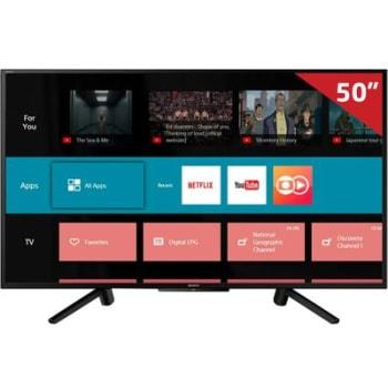 "Smart TV LED 50"" KDL-50W665F Sony, Full HD HDMI USB com X-Reality Pro e Wi-Fi Integrado"