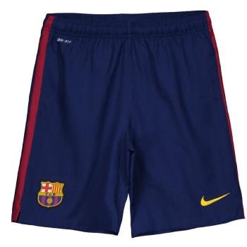 Calção Nike Barcelona Home 2015 Juvenil (Tam: 14 Anos)