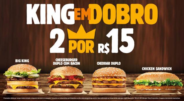 93816195313a0 BURGER KING em Dobro - 2 sanduíches por 15 reais em Promoção no ...