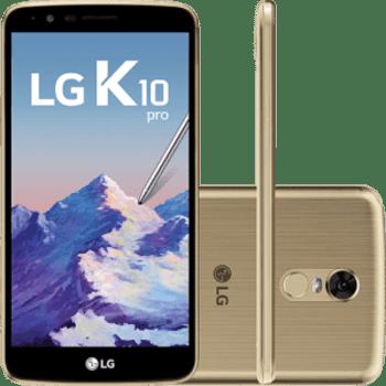 """Smartphone LG K10 Pro Dual Chip Android 7.0 Tela 5.7"""" Octacore 1.5 Ghz 32GB 4G Câmera 13MP - Dourado"""