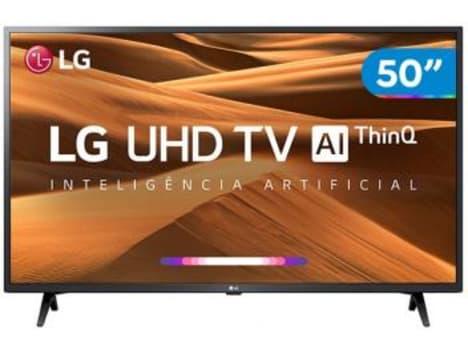 """Smart TV 4K LED 50"""" LG 50UM7360PSA Wi-Fi - Inteligência Artificial Conversor Digital 3 HDMI - Magazine Ofertaesperta"""