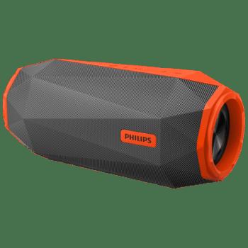 Caixa de Som Bluetooth Philips Shoqbox Sb500m Cinza e Laranja Ipx7 (Cód: 9743952)