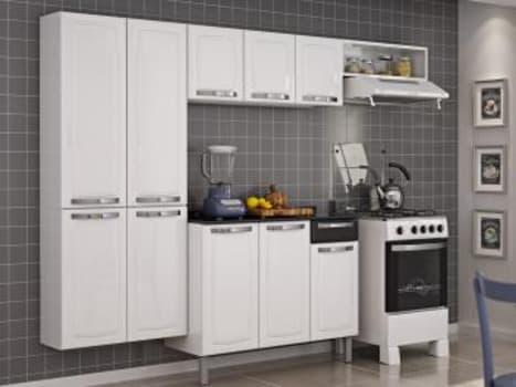 Cozinha Compacta Itatiaia Rose - 7 Portas Aço + Balcão com Tampo 3 Portas 1 Gaveta - Magazine Ofertaesperta