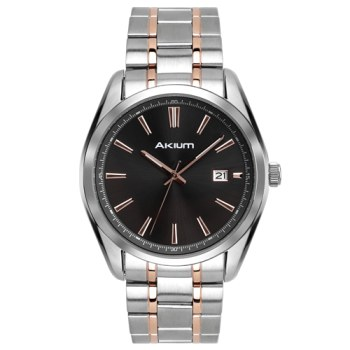d51849e3736 Relógio Akium Masculino Aço Prateado e Rosé - 10059gb05b-gun em ...