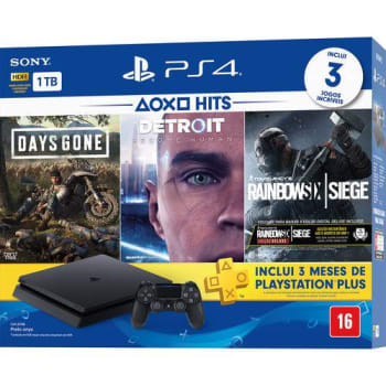 Console Playstation 4 Slim 1TB Hits Bundle 5 + Controle Dualchock 4 - PS4