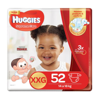 Fralda Huggies XXG Supreme Care Hiper 52 Unidades
