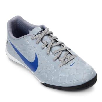 Chuteira Futsal Nike Beco 2 - Cinza e Branco