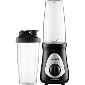 Liquidificador Portátil Mondial Personal Blender DG-01 300W Preto e Cinza